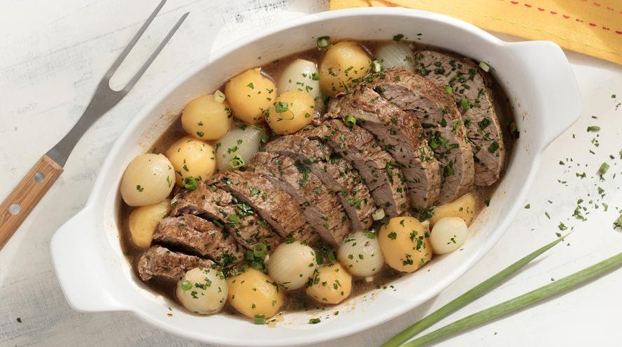 Carne de Panela com Batata e Cebola